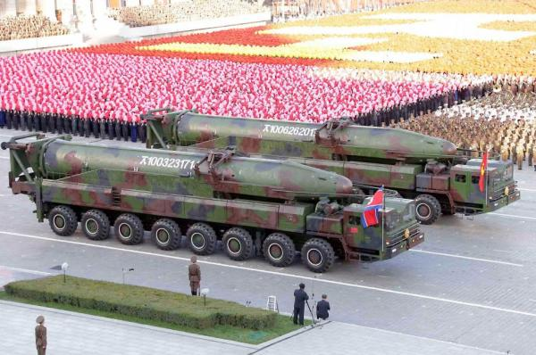 ICBMs on parade in Pyongyang
