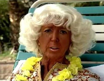 The Tan Lady from the movie Something About Mary