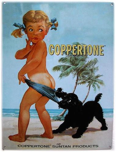 The iconic Coppertone Girl